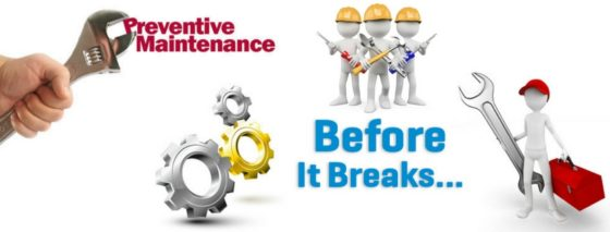 Preventive Maintenance can increase the life of your equipment.